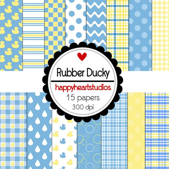 Digital Scrapbooking Rubber DuckyINSTANT DOWNLOAD by azredhead, $1.50