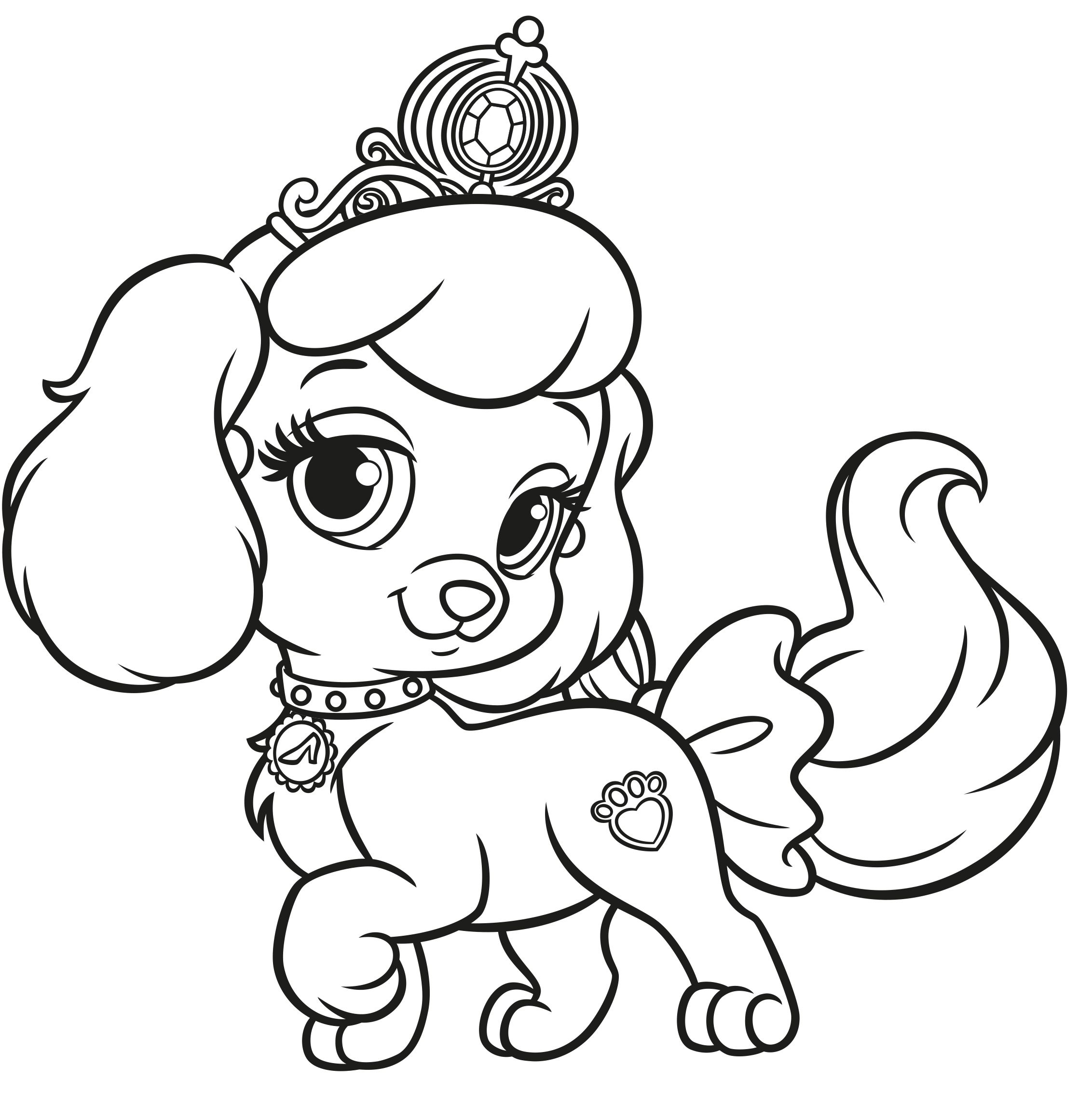 - Disney Palace Pets Coloring Pages Ariel Coloring Pages