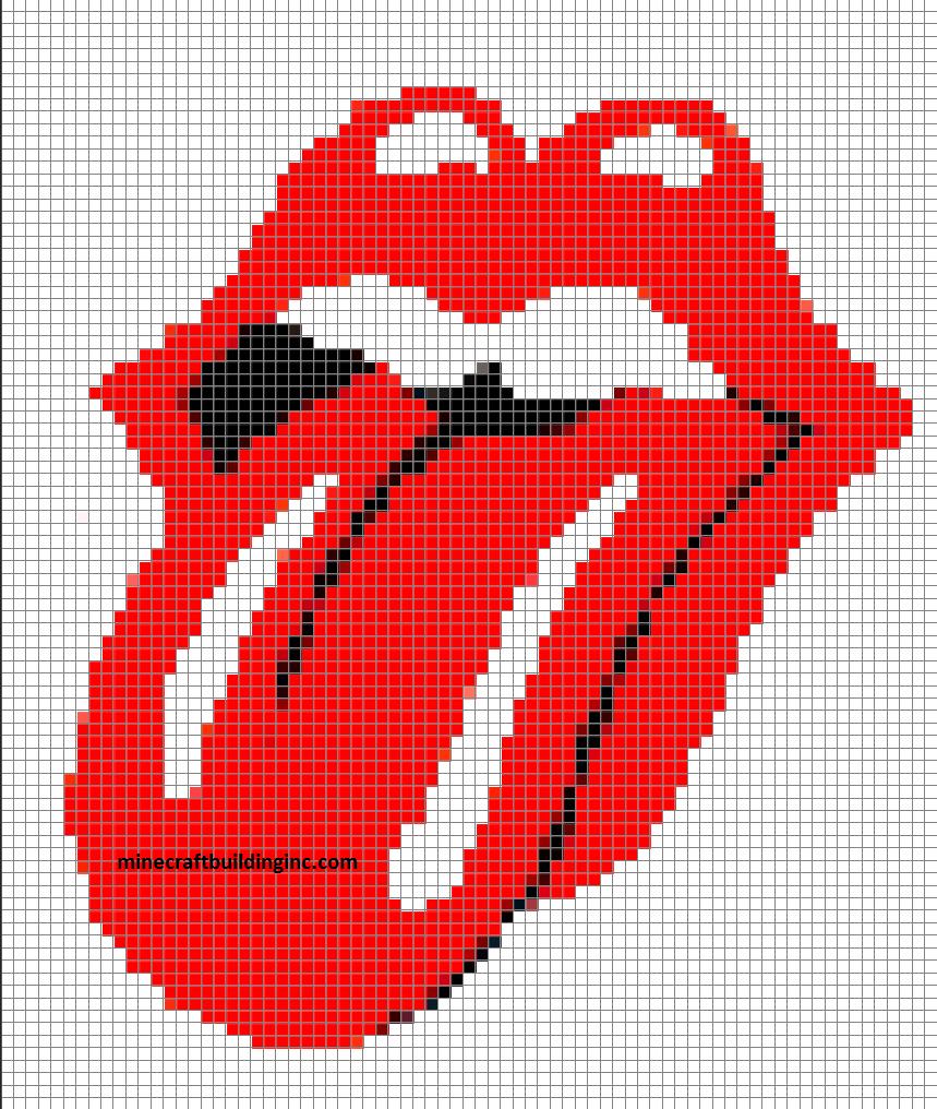 Rolling Stones Tongue – Minecraft Building Inc