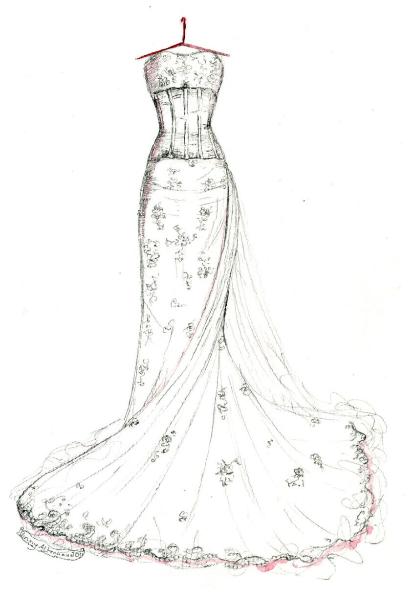 Coloring Pages Of Prom Dresses