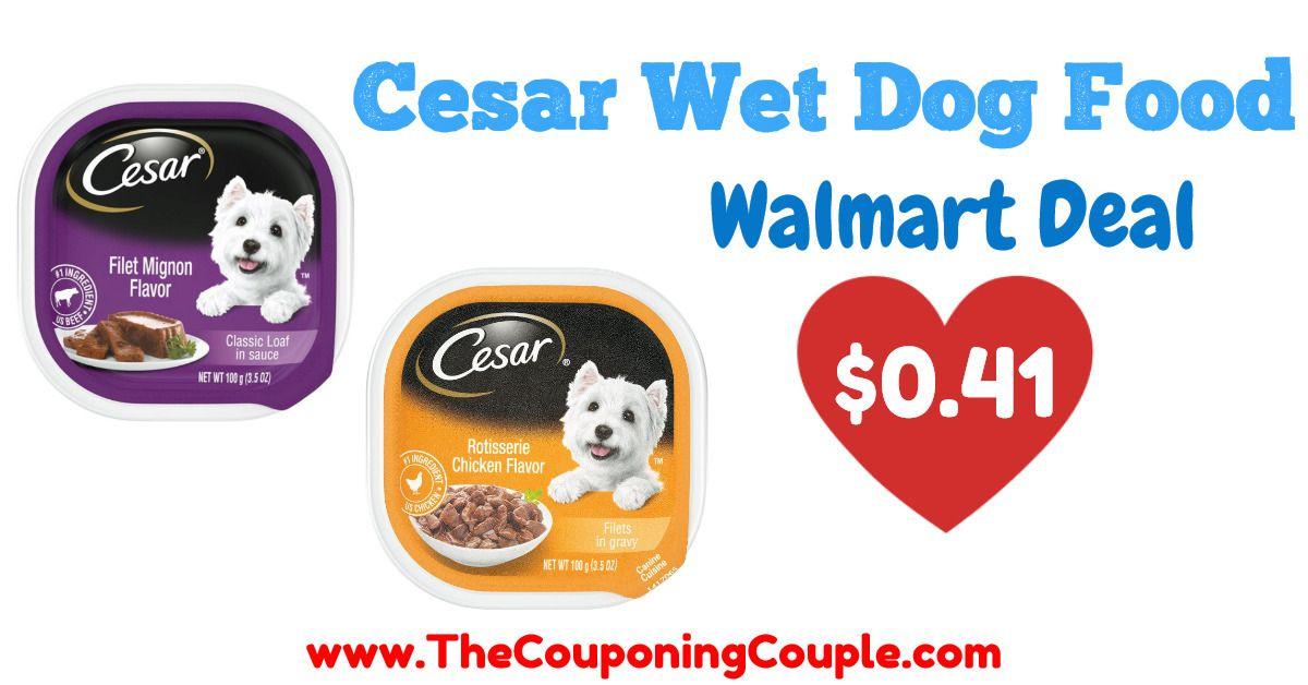 Nice deal on cesar wet dog food walmart in 2020 wet