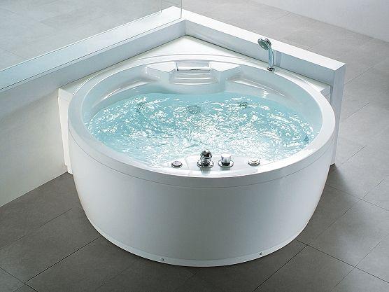 whirlpool badewanne rund spa indoor jacuzzi. Black Bedroom Furniture Sets. Home Design Ideas