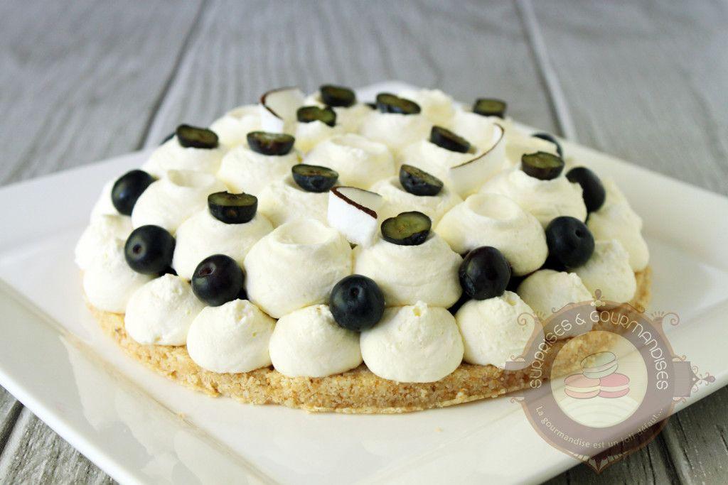 Surprises et gourmandises - Tarte façon cheesecake myrtille et noix de coco de Christophe Michalak