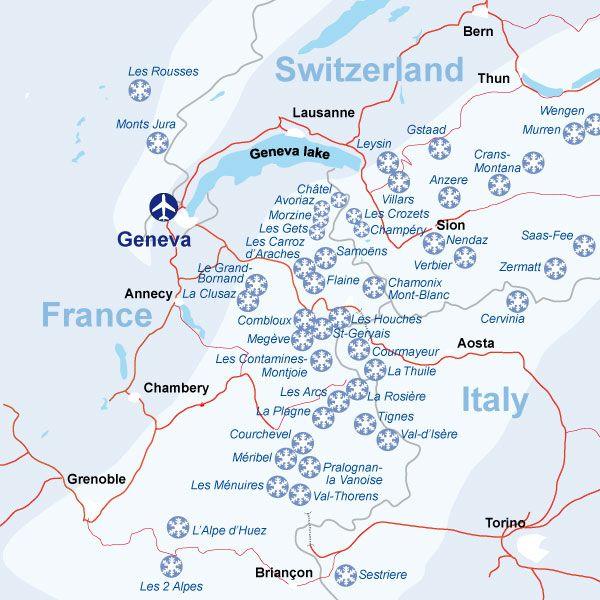 Ski train Geneva Switzerland | Lugares, Places et Lieus on map zermatt, map cities in switzerland, map ski resorts in france, map hotels in switzerland,