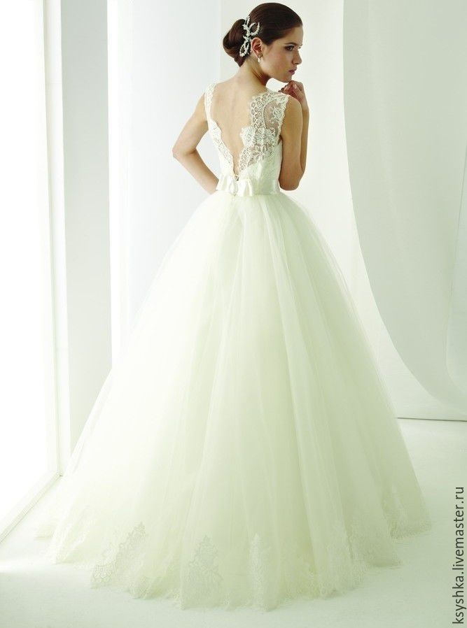 Wedding Dress / Свадебное платье - белый, свадебное платье, платье для невесты, свадебное украшение, свадебные бокалы
