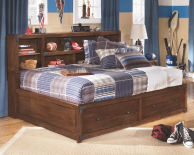 Delburne Full Bookcase Bed, by Ashley HomeStore, Medium Brown