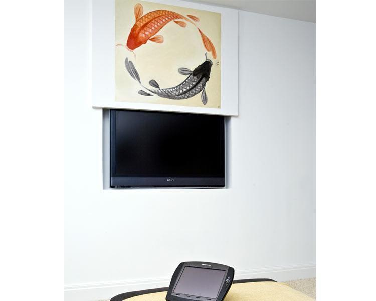Tv integration den fernseher verstecken auditorium magazin tvs pinterest fernseher - Fernseher verstecken ...
