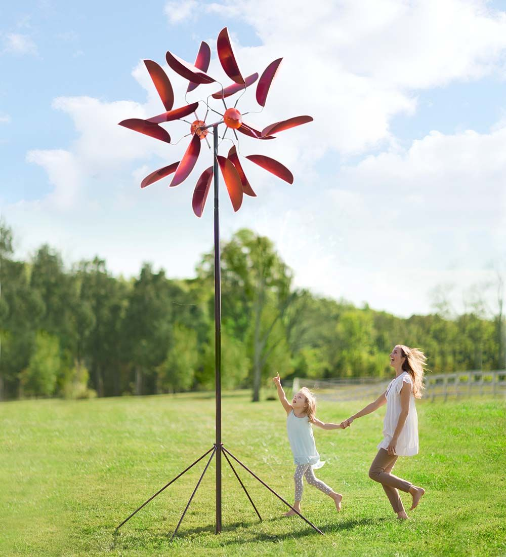 giant metal wind spinner and we mean giant make room for this