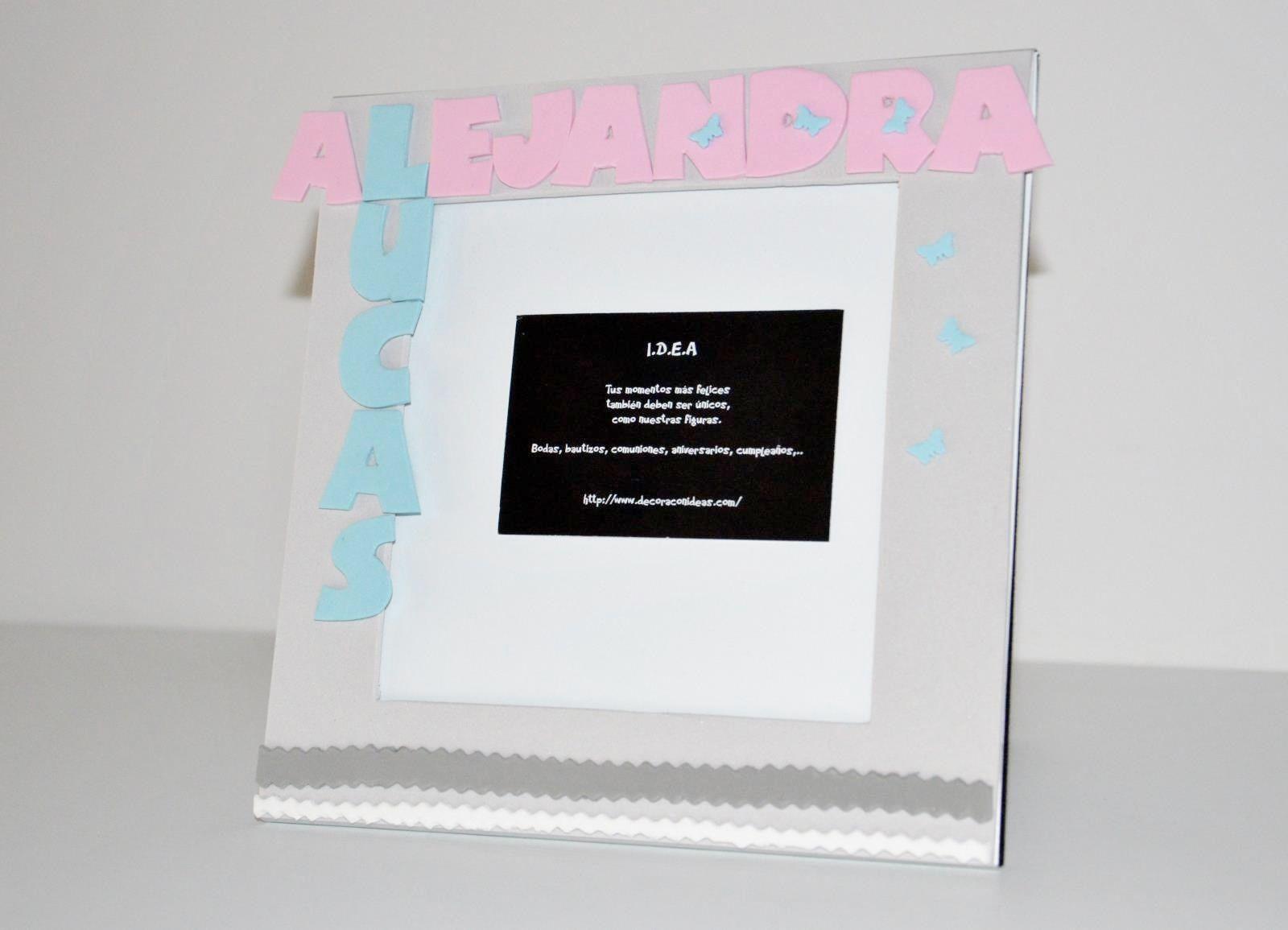 Portaretrato personalizado realizado con goma eva y arcilla para ...