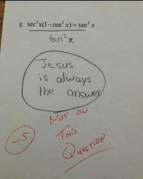 "Latest Funny Test Answers 13 Signs You Went To Catholic School Did your school have ""Saint,"" ""Sacred,"" or ""Archbishop"" in its name? Read this. 4"