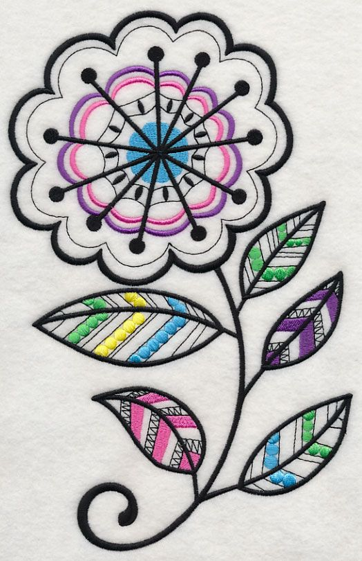 Starburst Blossom (Blackwork) | BORDADO | Pinterest | Bordado, Cosas ...