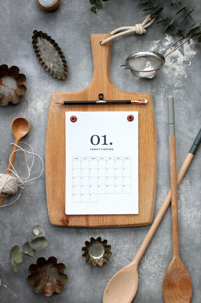 super niedliche idee holzbrett kalender f r die k che selber machen l diy cook s calendar our. Black Bedroom Furniture Sets. Home Design Ideas