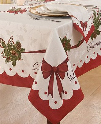Homewear Table Linens Christmas Peace And Joy Collection Table