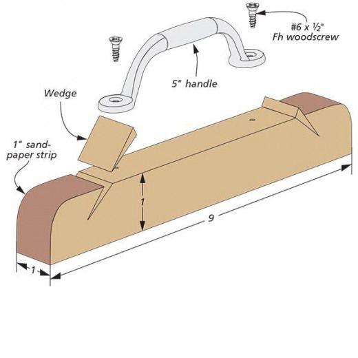 Narrow Sanding Block   Woodsmith Tips