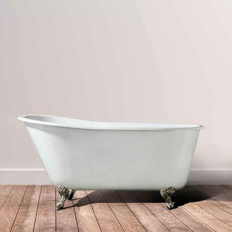 53 Abilene Cast Iron Slipper Clawfoot Tub No Faucet Holes Tub