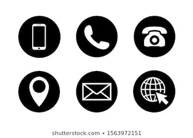 Contact Icon Set Circles Phone Mobile Stock Vector Royalty Free 1563972151 Icon Set Vector Hipster Logo