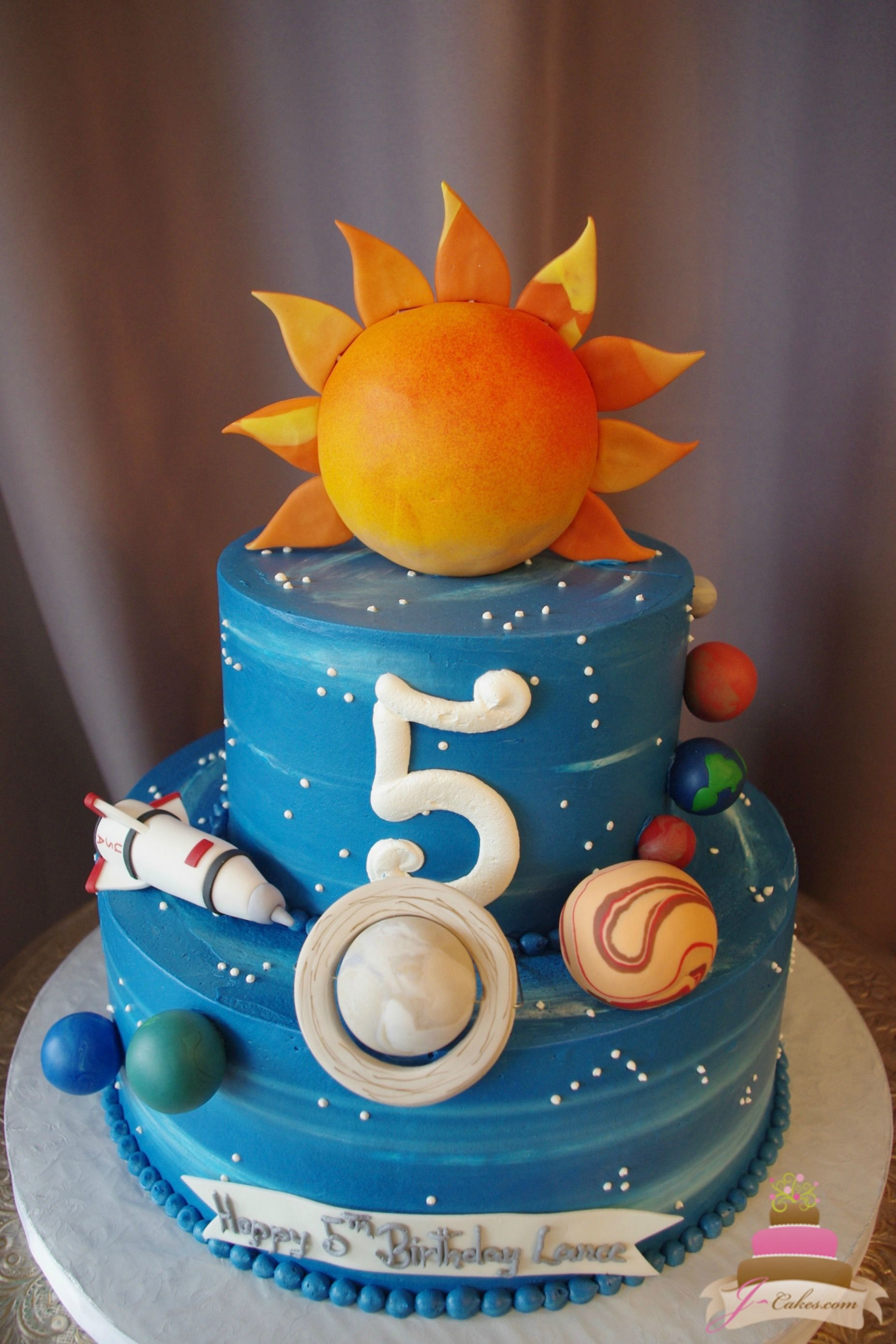 492 solar system theme cake kids 39 cakes pinterest for Outer space cake design