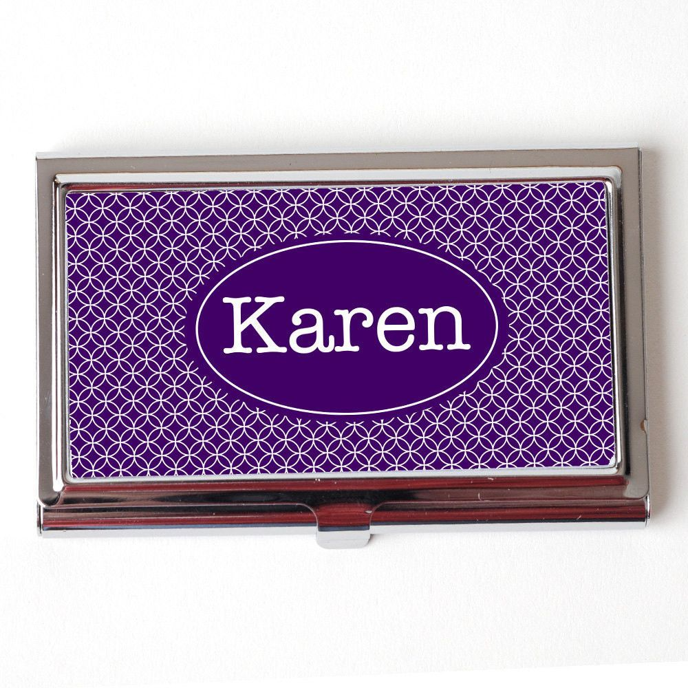Custom Business Card Case - Personalized Business Card Case ...