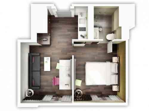Le plan appartement du0027un studio - 50 idées originales Tree houses - plan de maison 3d gratuit