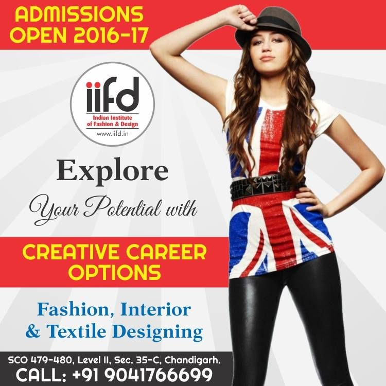 Explore your potential with creative career options.  Join Indian Institute of Fashion & Design. For #Admission_Process Call @+91-9041766699 OR Visit @ www.iifd.in/  #iifd #best #fashion #designing #institute #chandigarh #mohali #punjab #design #admission #india #fashioncourse  #himachal #InteriorDesigning #msc #creative #haryana #textiledesigning