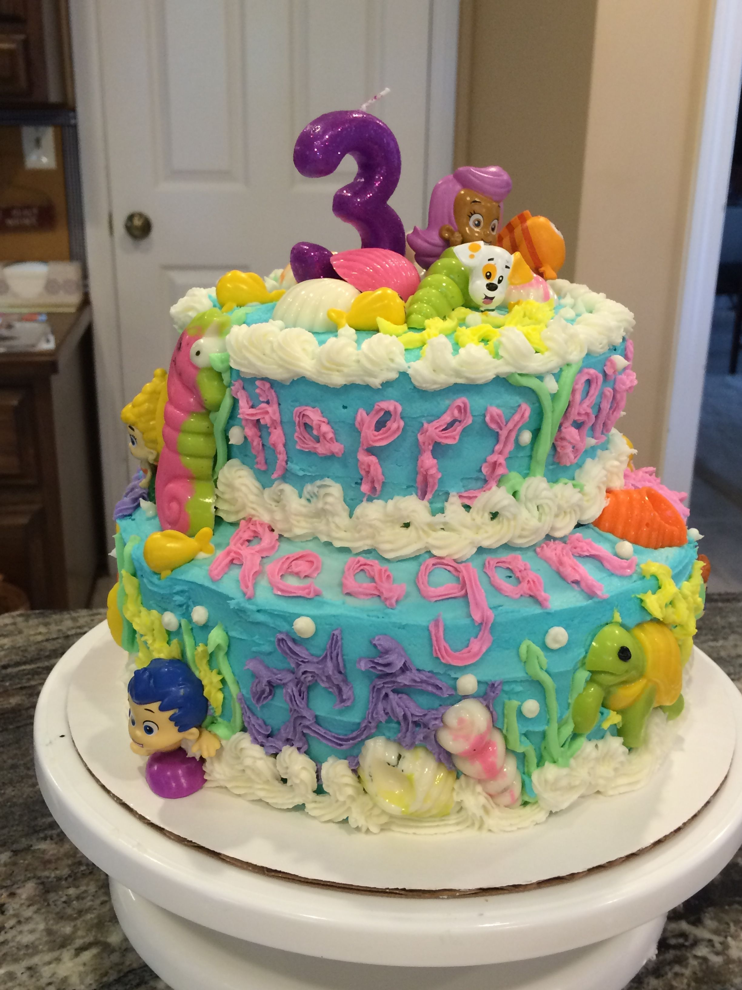 Bubble Guppies Birthday Cake I Used Candy Melts Molds For Some Of