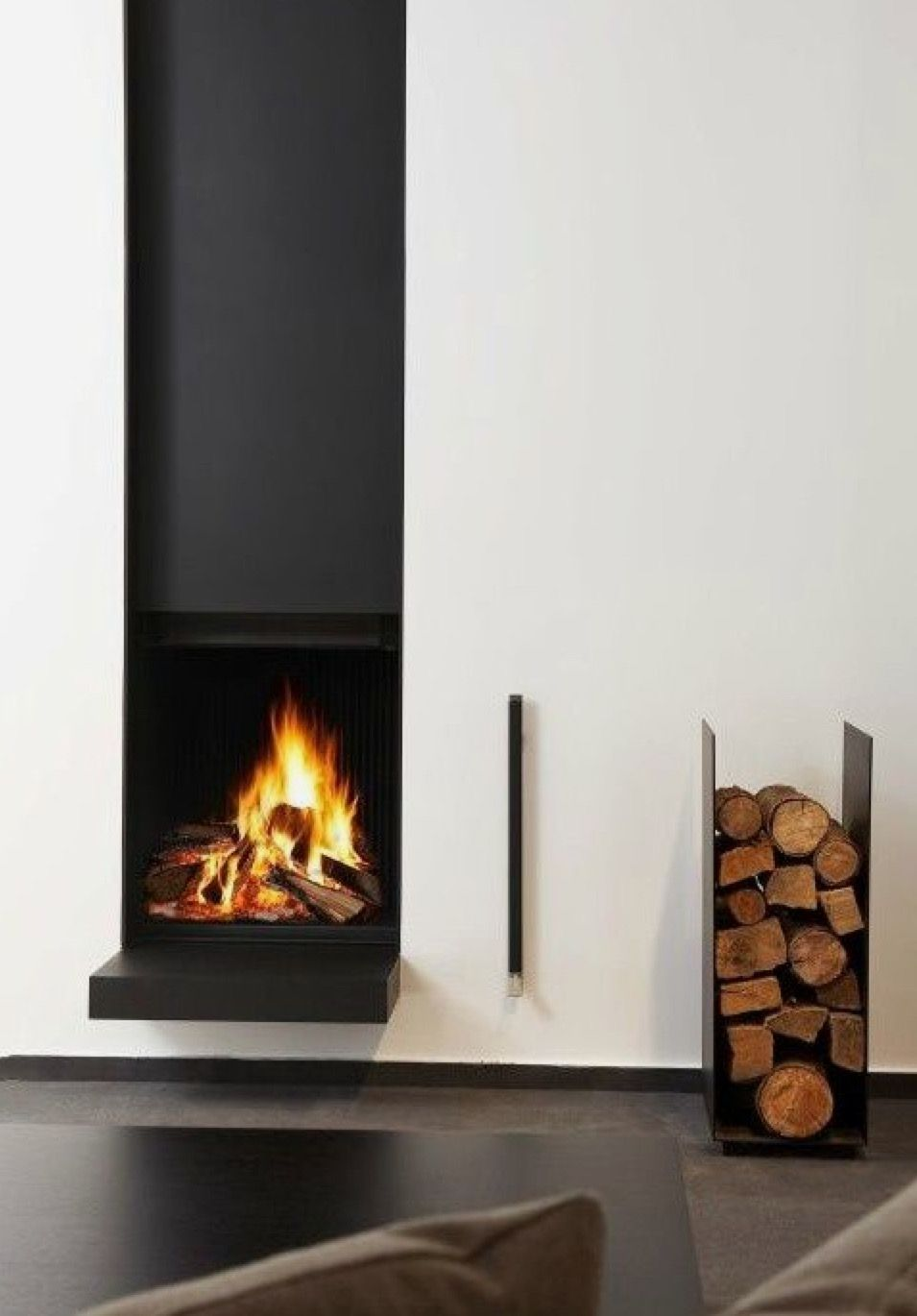 Slightly different design for log burner in the cave house in spain ...