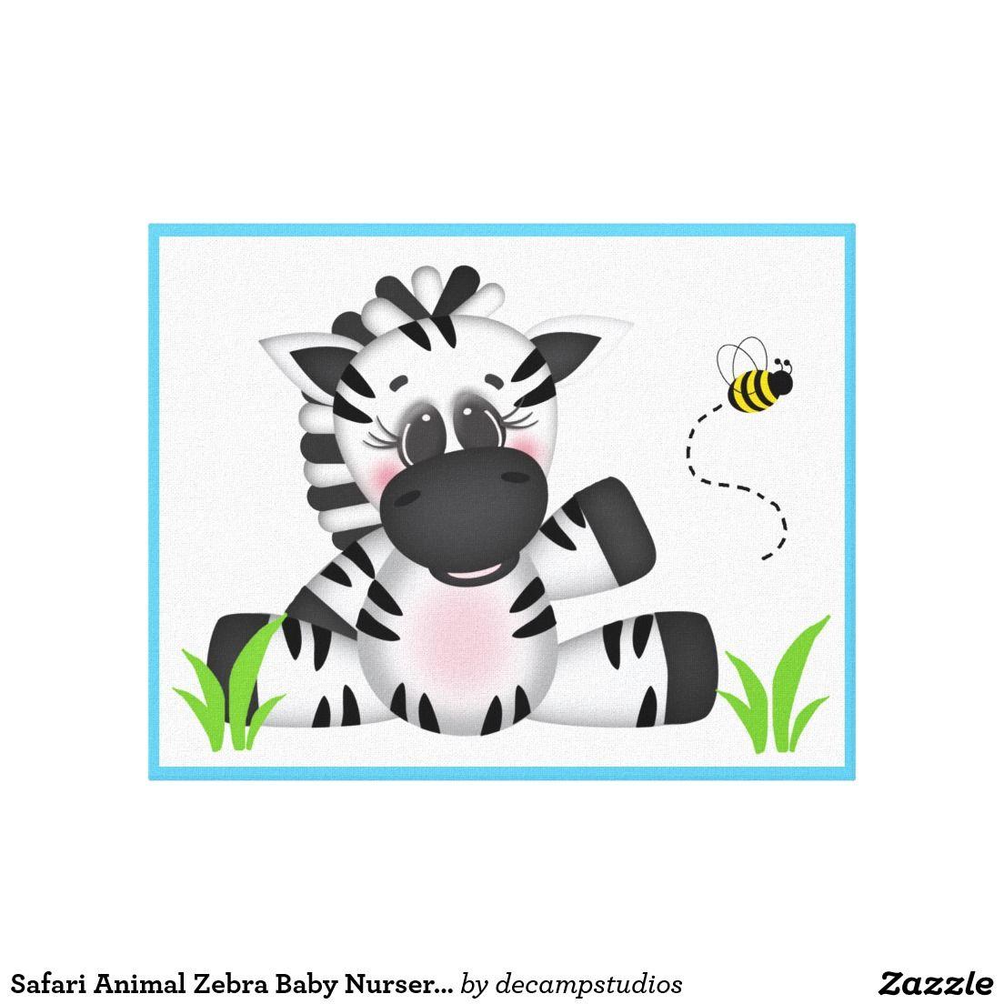 Safari Animal Zebra Baby Nursery Wall Art Print | Boy ...