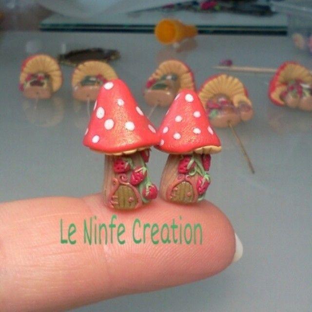"""Mini casine di elfi e fate. ..                                      . quasi pronte per """"Festa dell' Unicorno"""" a Vinci Fi dal 25 al  27 luglio.... #fairyhouse #polymerclay #love #fantasy   by LeNinfe"""