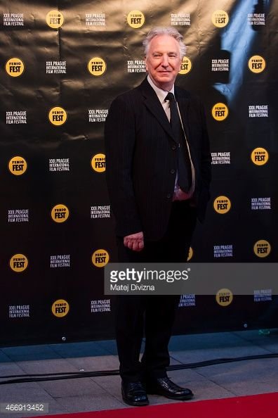 Alan Rickman at the 22nd Febiofest International Film Festival on March 19th, in which Alan will receive the Kristián Award for artistic contribution to world cinematography (March 19, 2015)