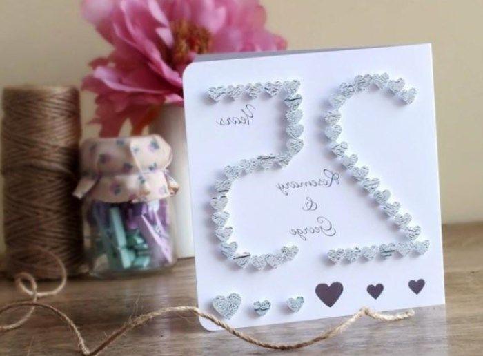 Silberhochzeit Geschenk Basteln Ideen Zur Hochzeit Pinterest