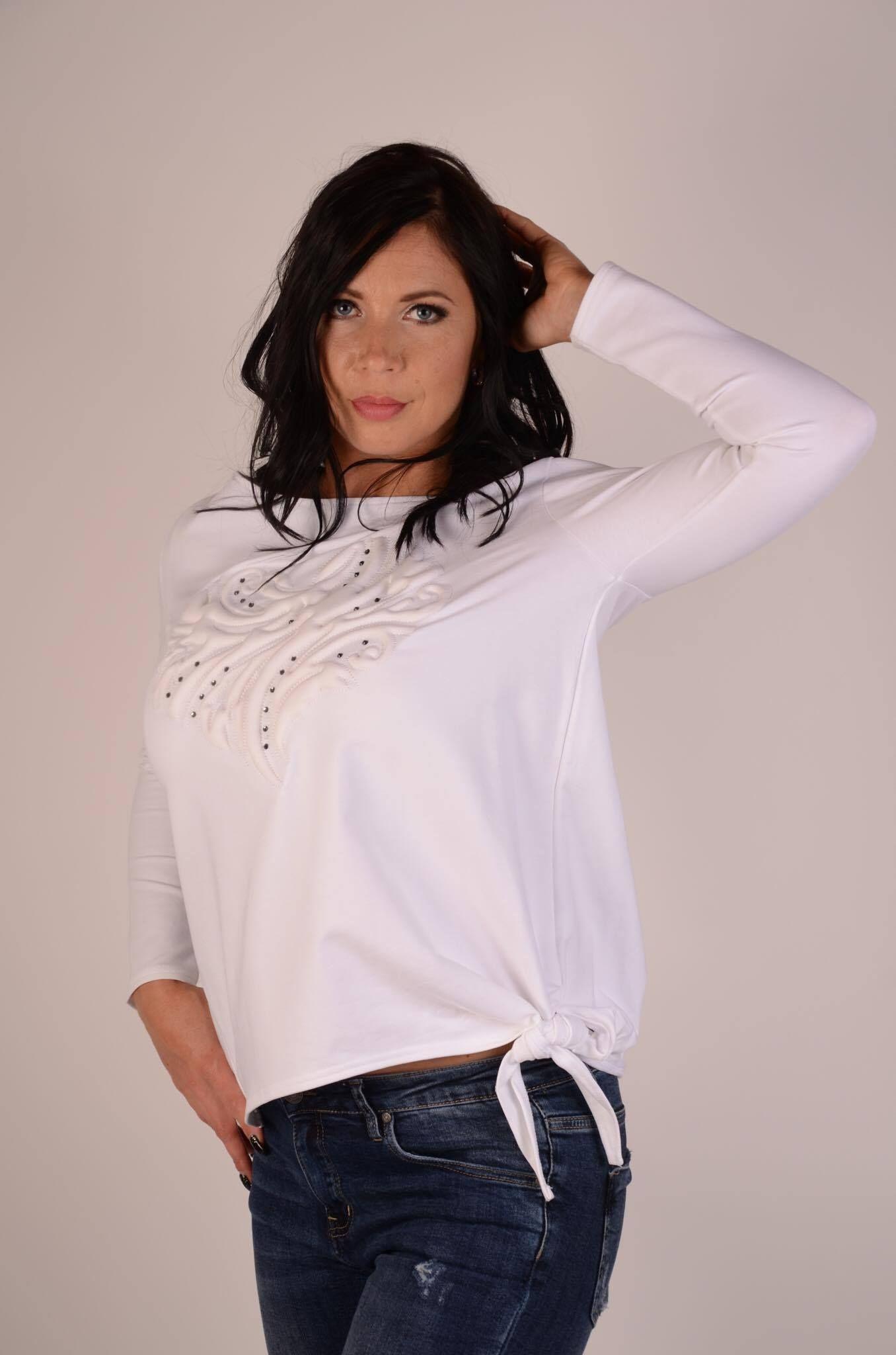 Long sleeve white shirt ladies tops fashion white long