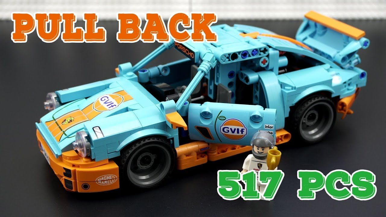 Pull Back Porsche Brick Set Speed Build Review Lego Cars Porsche Lego