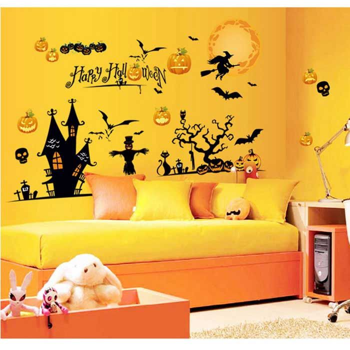 3d Halloween Decorations. Fabulous Removable Diy D Halloween Witch ...