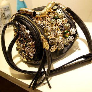 Hot-selling Europe and America Style Women's Handbag PU Bags Fashion Paillette Drum-shaped Cross-body Handbag Messenger Bag  $97.10