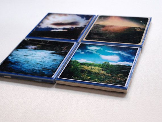 Blue Tile Collection Set of 4 photographs by JasmineMayberryPhoto