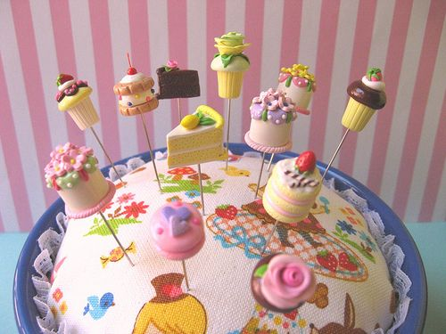 Pin toppers porcelana fria polymer clay pasta francesa for Postres franceses frios
