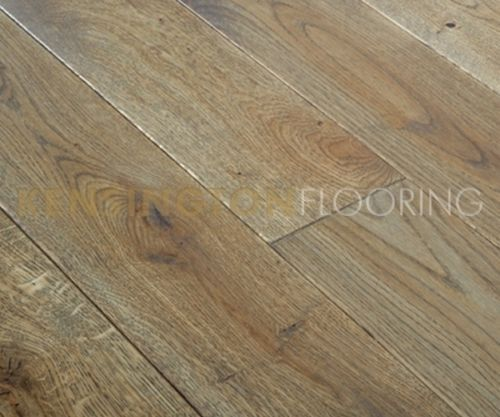 Smoked Fumed Solid Oak 150mm Antique Wood Real Wooden Flooring