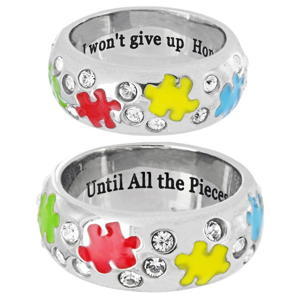 until the pieces fit swarovski ring autism