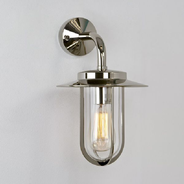 0484 Astro Montparne Polished Nickel Outdoor Wall Light