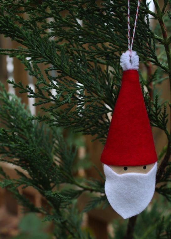 Adorno navideo de fieltro Felt Christmas ornament Navidad