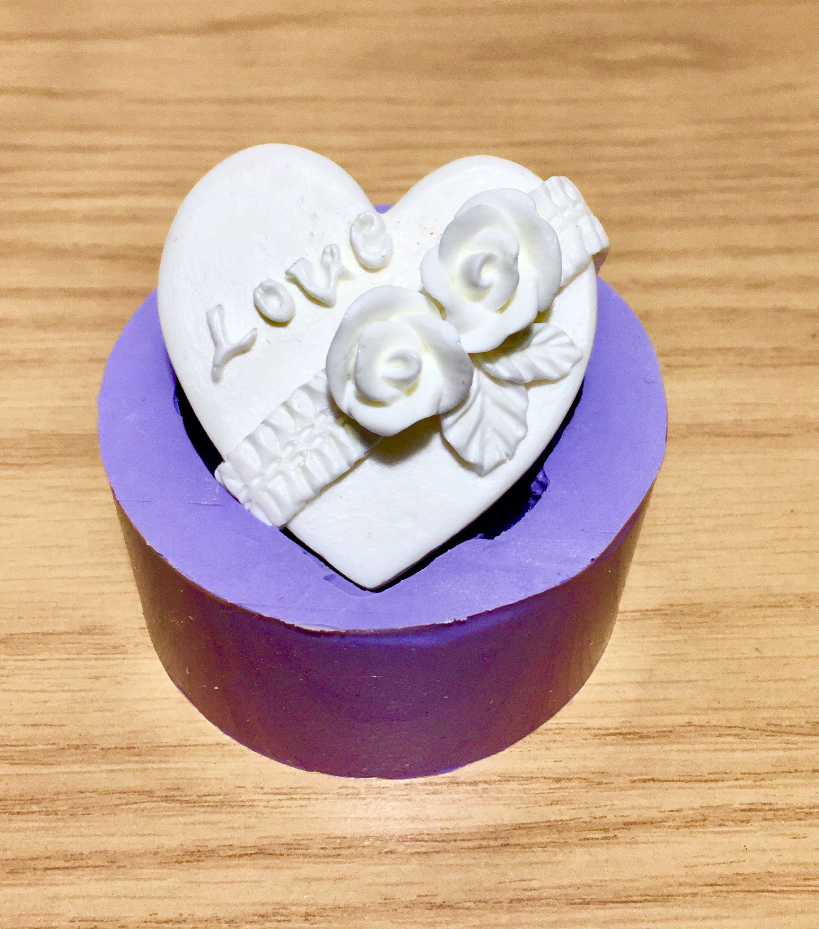 Silicone heart Mold silicone flower mold silicone rose