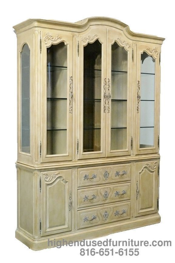 "2,299.99 henredon versailles collection country french 68"" lighted"