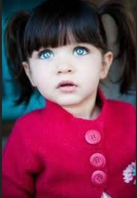 Beautiful Baby Found On Google Blue Eyed Black Haired Baby Girl
