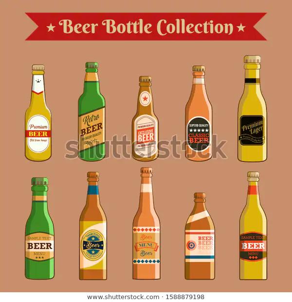 Download Beer Bottle Vector Set Collection Graphic Stock Vector # ...