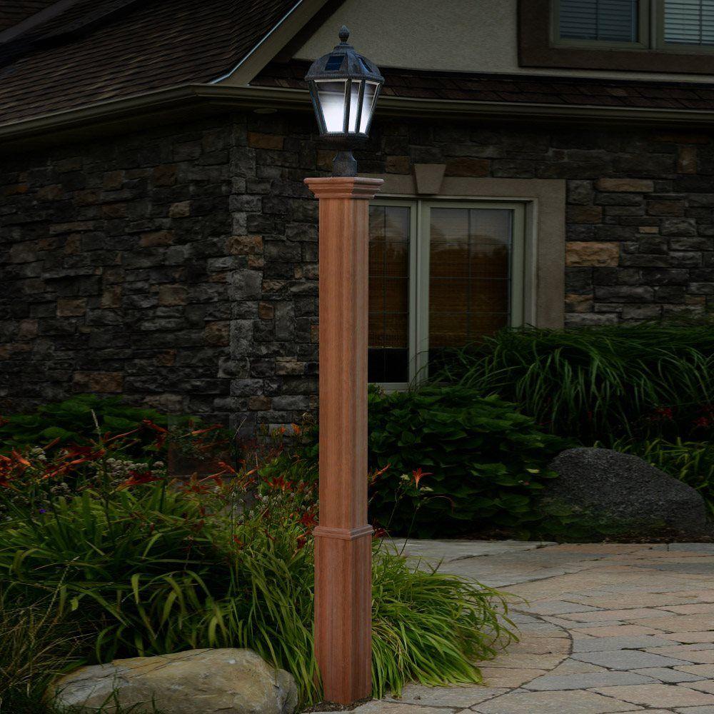 New England Arbors Trinity Composite Lamp Post