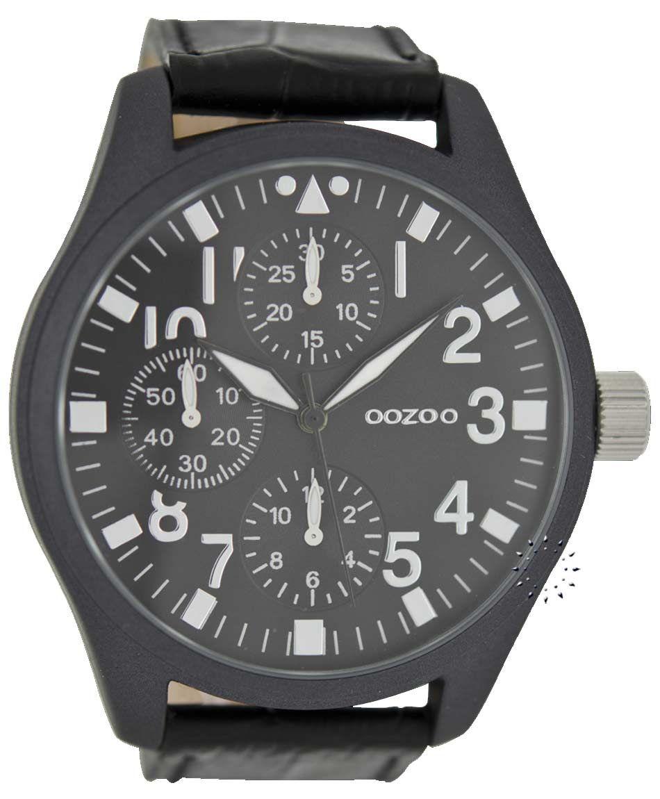 OOZOO XL Timepieces All Black Leather Strap Μοντέλο  C6449 Η τιμή μας  65€ 173ce3bb344
