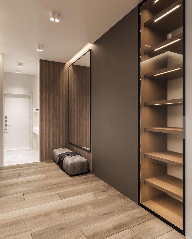 Design Project Of The Apartment 120m2 Moscow On Behance Wardrobe Door Designs Bedroom Closet Design Wall Wardrobe Design