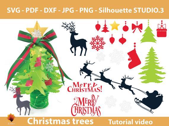 08 Papercraft Christmas Tree Templates Pine Forest Giant Etsy Christmas Tree Template Pop Up Card Templates Tree Templates