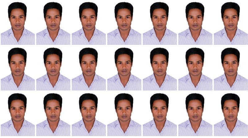 How to print Passport size Photo in A4 Size Paper Edit and make ...