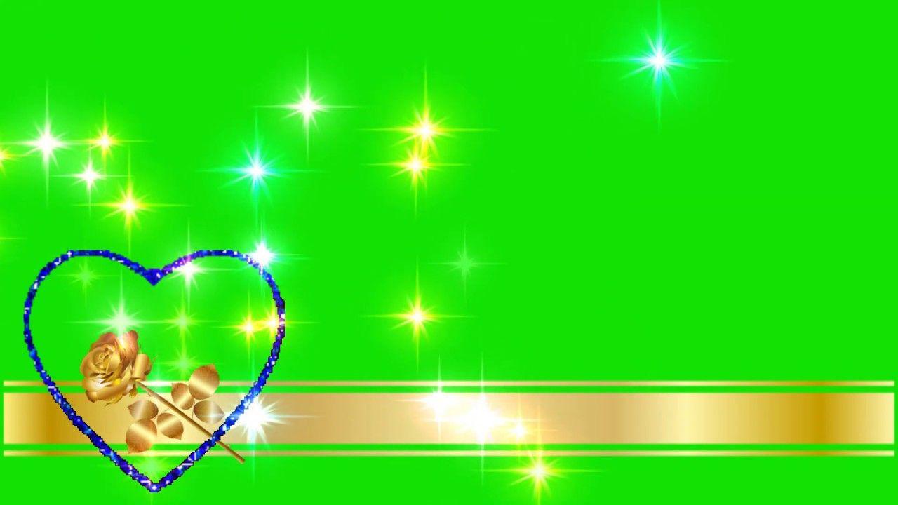 green screen video(green screen golden love effects download)-(star
